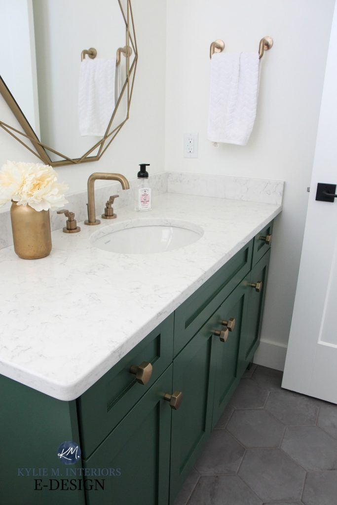 The 6 Best Paint Colours For A Bathroom Vanity Including White Check Out Some Of The Best Navy Blu In 2020 Painted Vanity Bathroom Green Bathroom Painting Bathroom