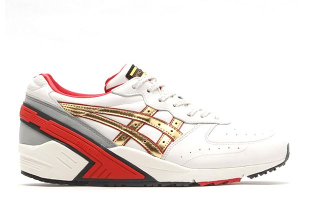 Asics Gel Sight - Off White - Red - Champagne Gold - SneakerNews.com