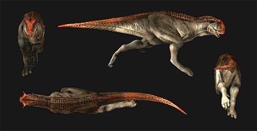 carnosaurus spinosaurus walking running animated gif