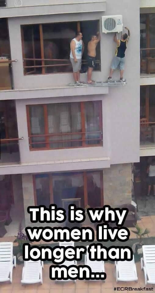 This is why women live longer than men....