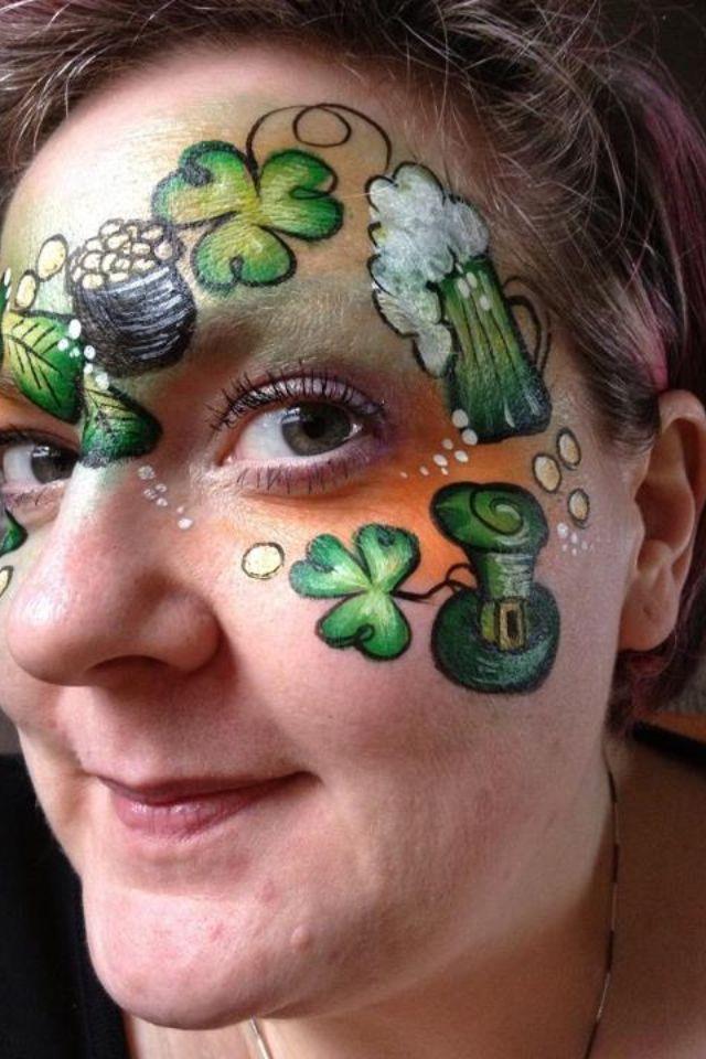 Face Paint Design St Patrick S Day