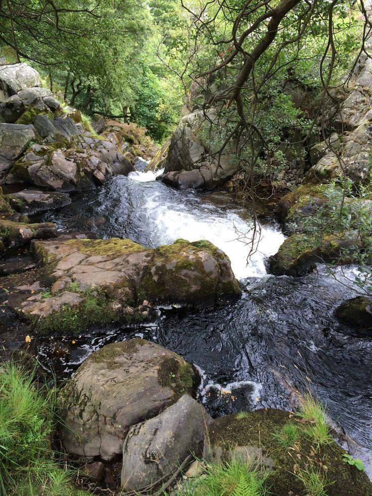 Waterfalls on Mount Snowdon in Wales. Definitely worth the walk!