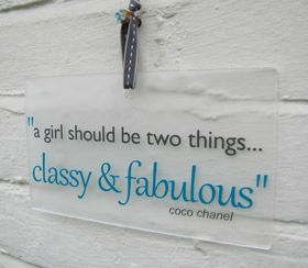 Any Quote personalised gift wall plaque sign with quote - Another Gorgeous Day