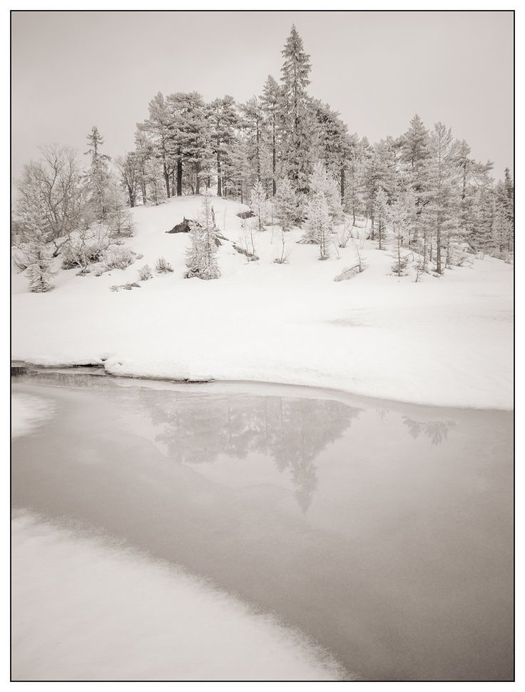 Infrared winter photography series