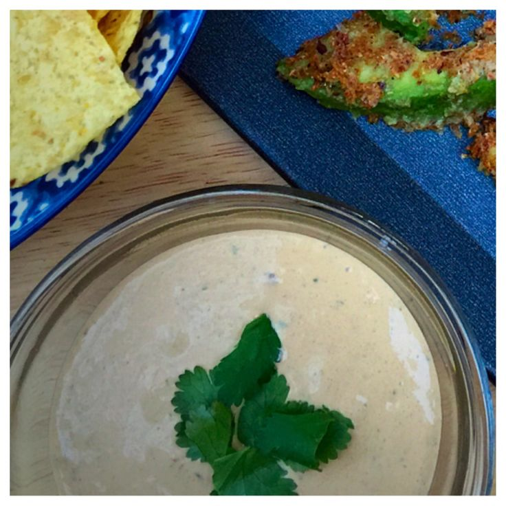 Chipotle Cilantro Dipping Sauce - spicy, cool, and creamy!