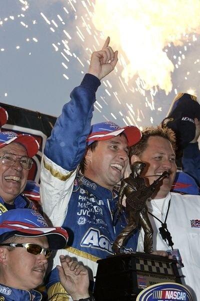 Career Highlights for David Reutimann: Winning the Busch Series race at Memphis