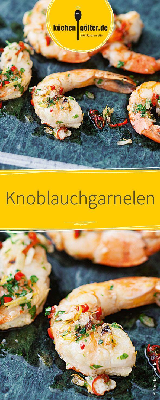 Die marinierten Knoblauchgarnelen dienen als perfekte Beilage für sämtliche Raclette-Gerichte.