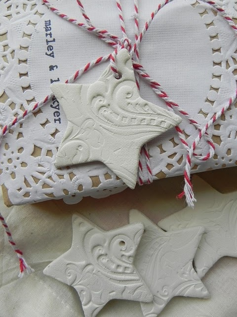 clay star decorations