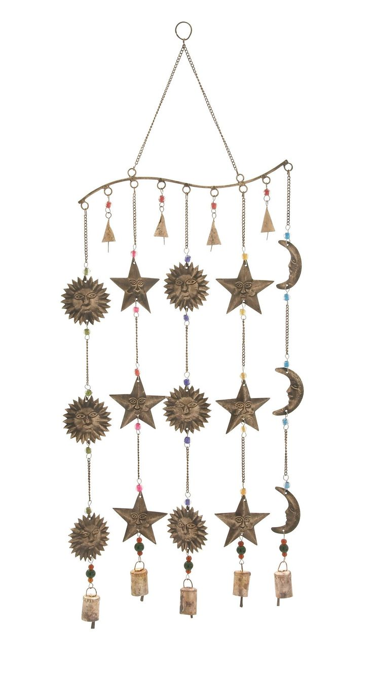 24289 Attractive Metal Glass Wind Chime