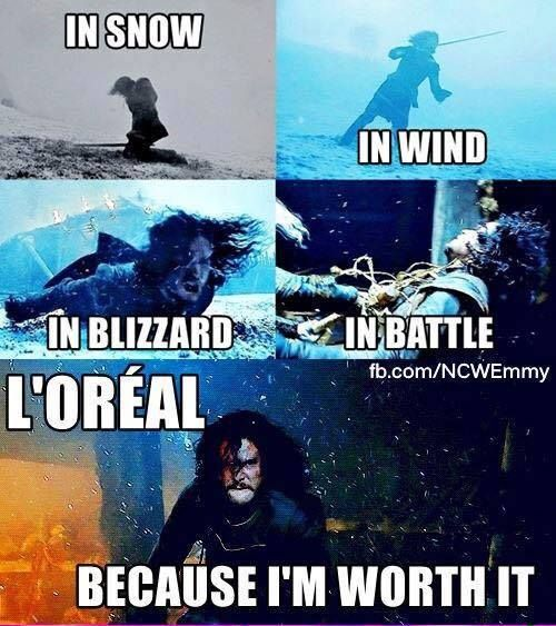 Game of Thrones funny meme. Jon Snow