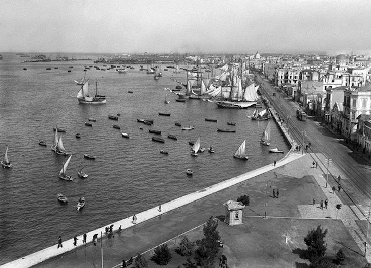 Θέα της παραλίας από τον Λευκό Πύργο το 1918