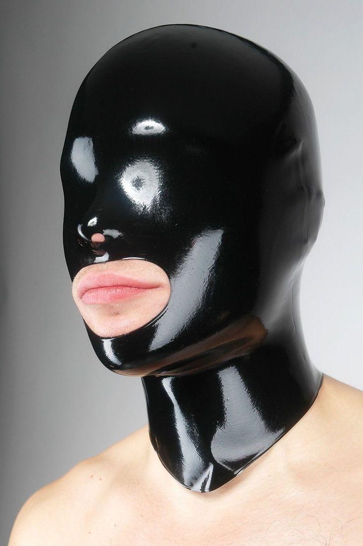 Latex Maske Mundöffnung - Fetisso - Latexmaske Gummimaske Gummi Rubber Hood Mask   eBay