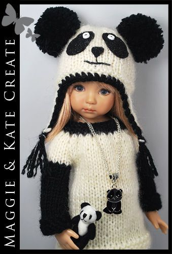 """** PANDA ** Outfit for Little Darlings Effner 13"""" by Maggie & Kate Create"""
