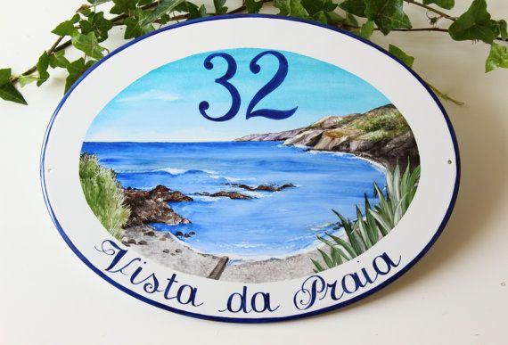 Targa porcellana per villa al mare targa personalizzata for Casa personalizzata online
