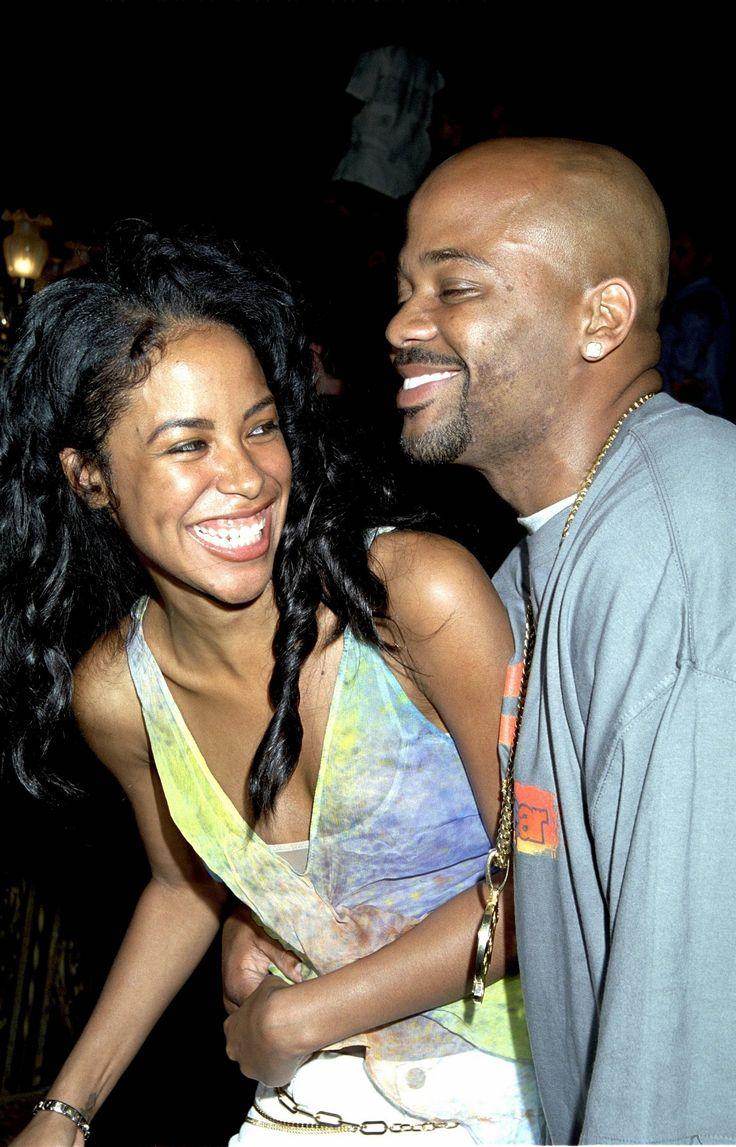 Aaliyah with boyfriend Damon Dash