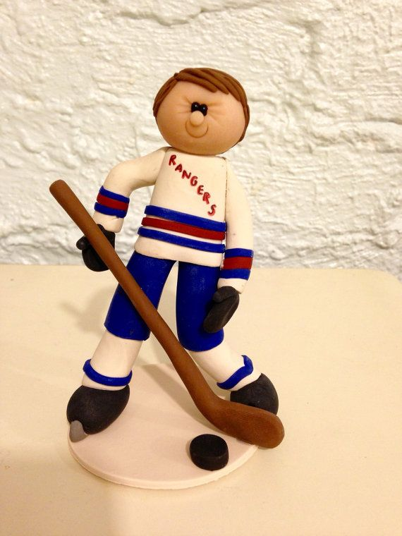 Hockey Player Cake topper hockey cake topper by CalledandChosen