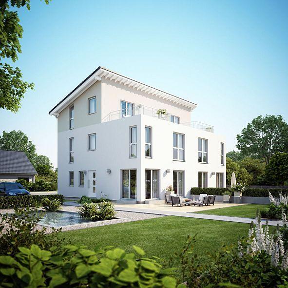 Auf gute Nachbarschaft. Energieeffiziente Doppelhäuser machen den Eigenheimtraum realisierbar. Ein modernes Doppelhaus punktet mit individueller Architektur, energieeffizienter Technik und flexiblen Grundrissen. Foto: djd/Fingerhaus