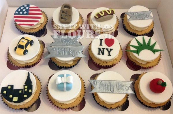 New York Themed Cupcakes