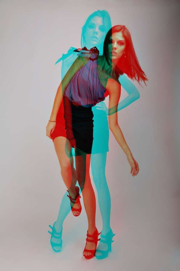 3D-Inspired Fashion Shoots - Juma Herrera's 'Dalia Ramos 2010' Series Jumps Right Out at You (GALLERY)