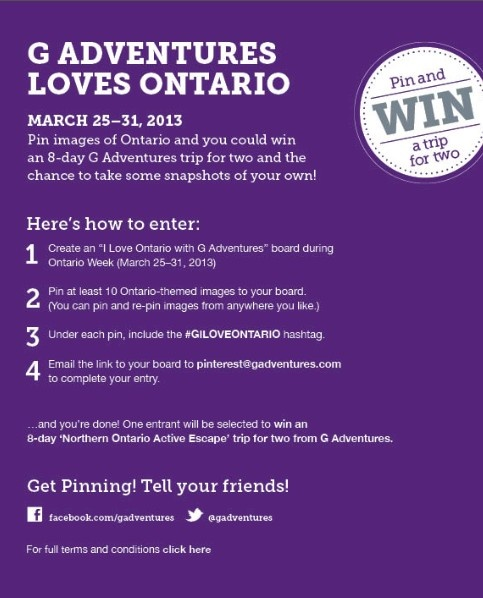 WIN an 8-day trip to Canada with us! #GILOVEONTARIO
