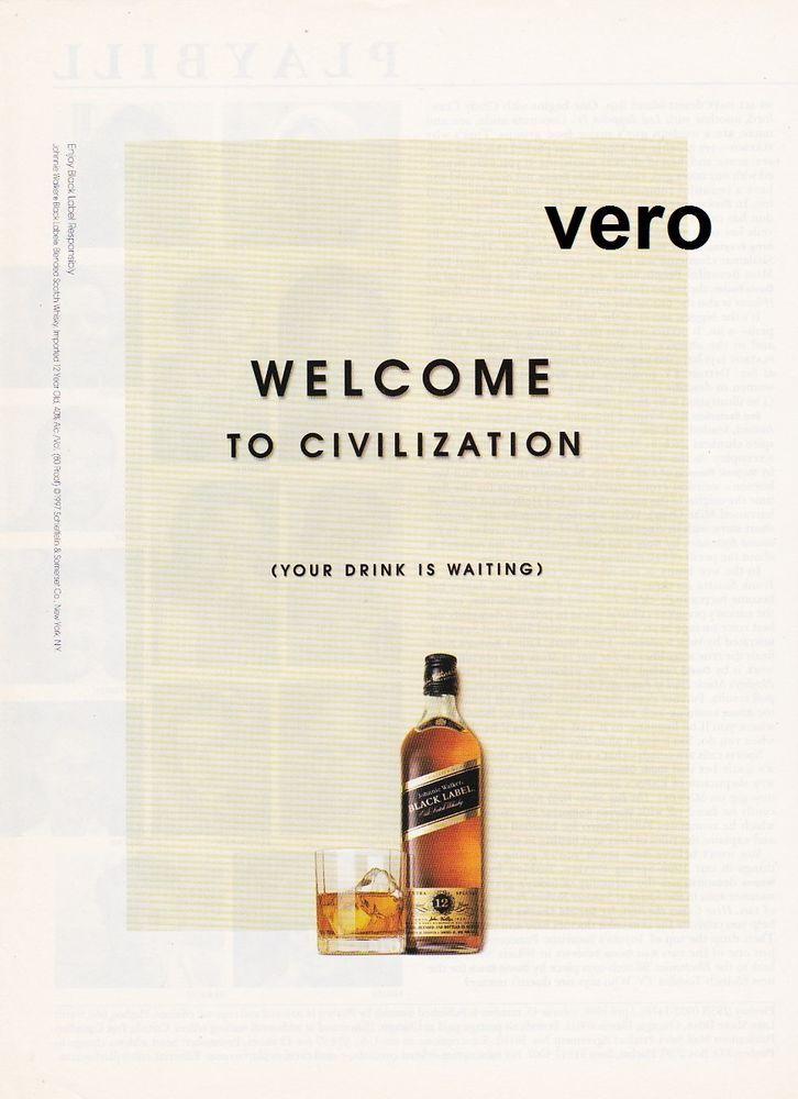 JOHNNIE WALKER 1997 magazine ad Scotch Whisky BLACK LABEL alcohol print  page