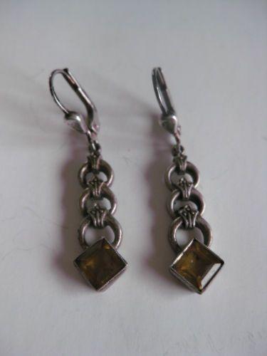Antike Ohrringe Silber 925 mit Citrin in Antiquitäten & Kunst, Antikschmuck, Schmuck & Accessoires, Ohrringe & -stecker | eBay