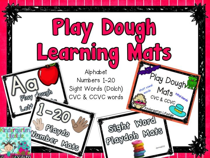ABC Literacy Center Play Dough Mats Freebie - A Kindergarten Lifestyle