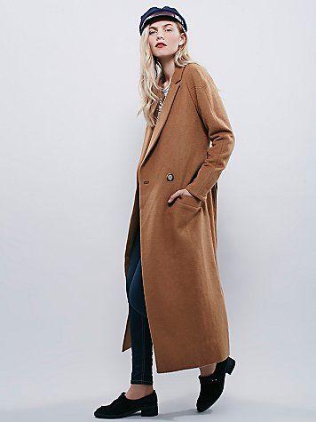Slim Long Overcoat // Menswear inspired.