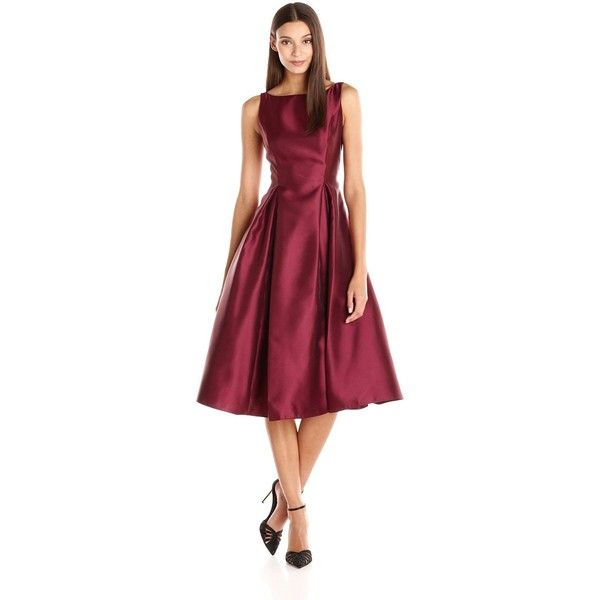 Adrianna Papell Sleeveless Tea Length Dress
