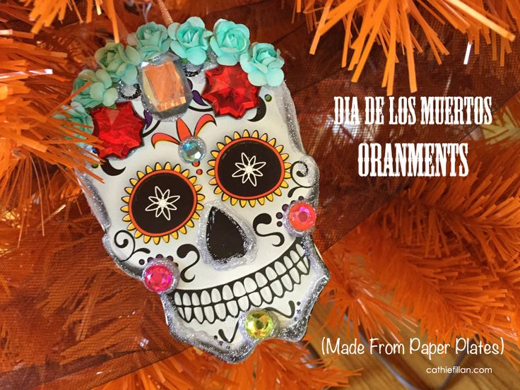 Dia De Los Muertos Day Of The Dead Ornaments Made From