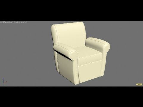 3ds max tutorial - Modelling a Sofa