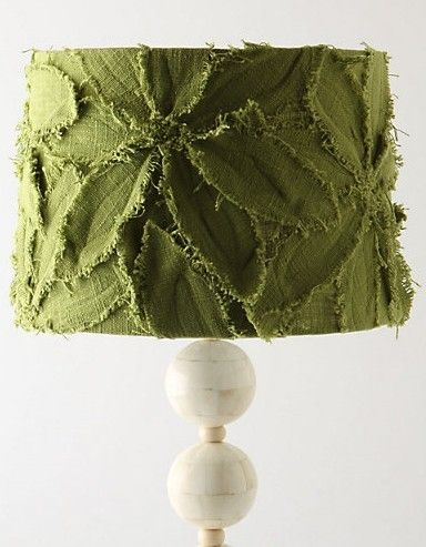 fabric leaf lamp shade  this would be cute as a pillow, too