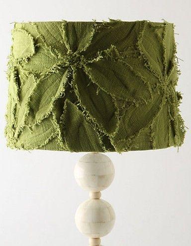 fabric leaf lamp shade