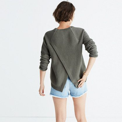 Province Cross-Back Pullover Sweater /