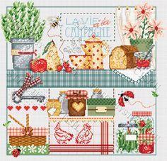 """Схема для вышивания Madame La Fee """"La Vie a la Campagne"""" (""""Жизнь в деревне"""")"""