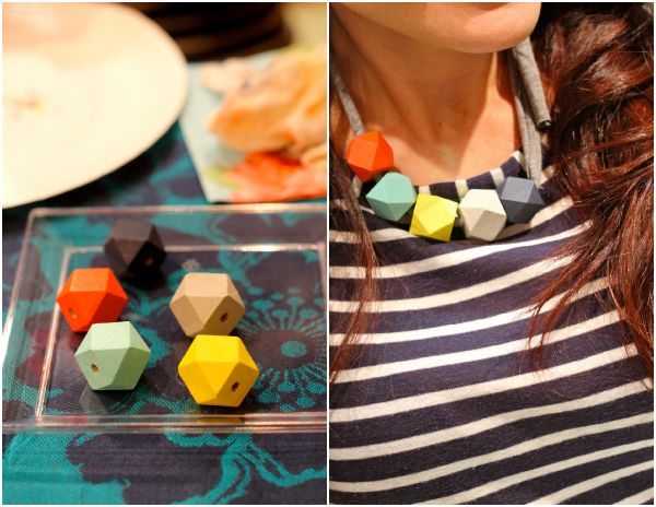 a necklace making workshop is my fave   you are my fave - LOVE the shape of the beads she found! Want to make these with my girls [not exactly a tutorial but that's where its getting pinned]