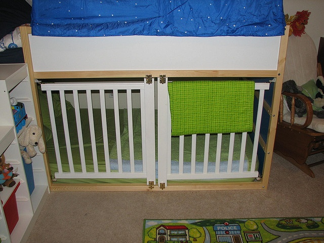 Ikea Kura. Side from cot, cut to fit, use instead of cot i guess... or to cage the kids when driving you mad? ;-)