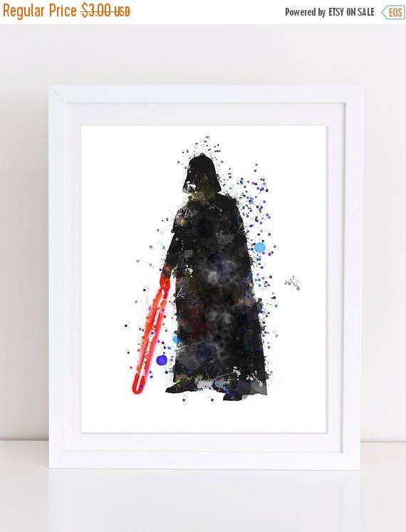 60%OFF Darth Vader Print Darth Vader Watercolor Print Star
