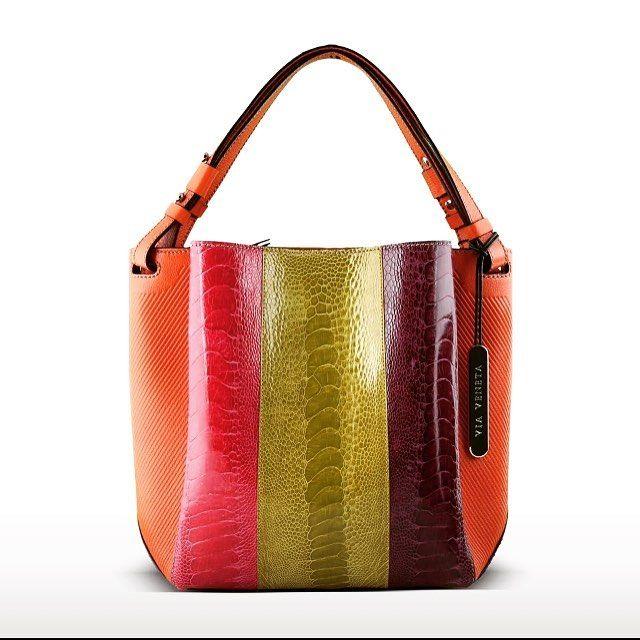 Genuine Ostrich Leg handbag - signature colour #bag from the Via Veneto collection