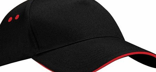 Beechfield Unisex Ultimate 5 Panel Contrast Baseball Cap With Sandwich Peak / Headwear (One Size) (Black/Light  <ul><li>Rip-Strip size adjuster, perfect for print and embroidery.</li><li> Size One Size Adjustable.</li><li> Fabric 100% Cotton Dril (Barcode EAN = 5055747773033) http://www.comparestoreprices.co.uk/baseball-caps/beechfield-unisex-ultimate-5-panel-contrast-baseball-cap-with-sandwich-peak--headwear-one-size--black-light-.asp