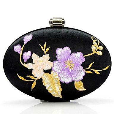 Handbag Silk Evening Handbags with Chinese Wind Flower Embroidery Jewelry Bag Handbag - USD $ 44.99