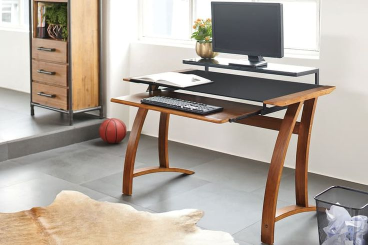 The Rotorua Computer Desk by Pudney and Lee offers a sleek, stylish design that surpasses boring old computer desks and adds a smart sophistication to your home office or study area.