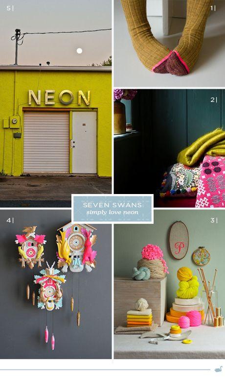 Seven Swans loves neon
