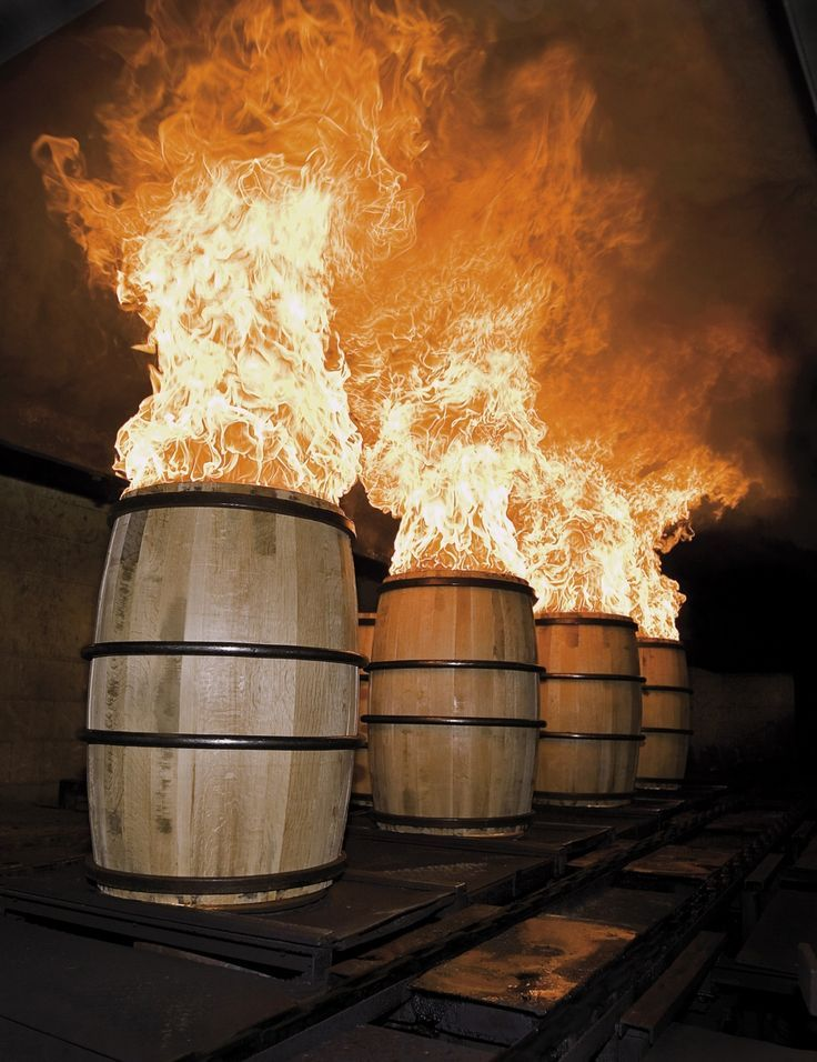 Cask burning or charring gives a distinct smokey flavour to the whisky ༺✿༺