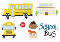Cartoon School Bus Free Vector