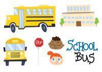 Cartoon School Bus Free Vector