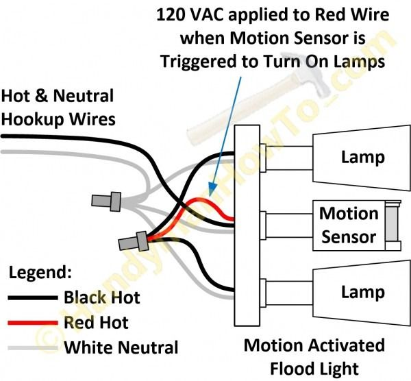 motion sensor light wiring diagram  motion sensor lights