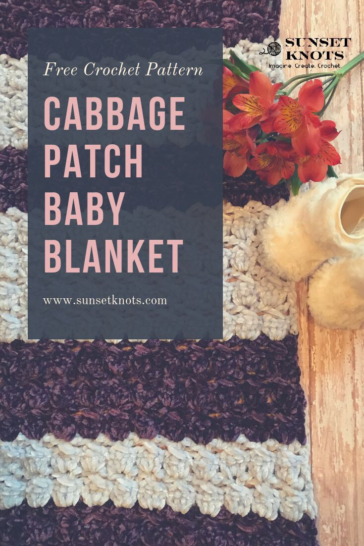 dbe9634e0 Easy crochet baby blanket using Bernat Velvet yarn and the cabbage ...
