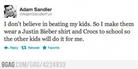Adam Sandler Doesn't Beat His Kids: Adam Sandler, Stuff, Quotes, Funny, Funnies, Humor, Kids