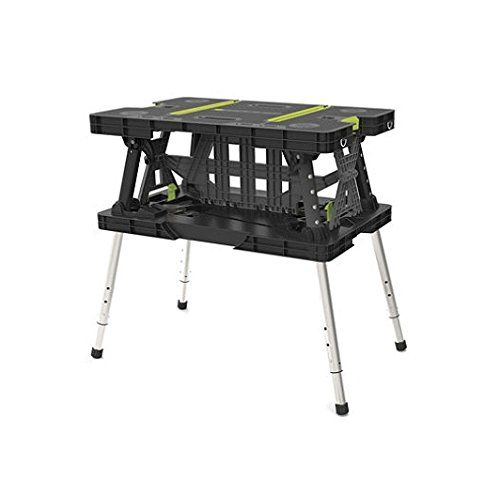 Garden party  Keter 17200954 Folding Work Table EX with Extendable Legs and 2 C-Clamps Black ,Green 700-LB -- This is an Amazon Associate's Pin. Find the item on the website by clicking the VISIT button.
